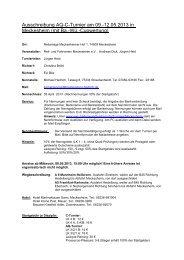Ausschreibung Turnier Fronhofen 13/14 August