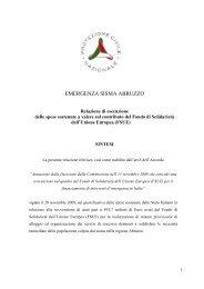 EMERGENZA SISMA ABRUZZO - Dipartimento della Protezione Civile