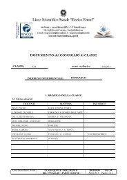 1 - Documento 15 maggio 2013 5B - Liceo Scientifico