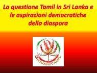 La questione Tamil in Sri Lanka e le aspirazioni ... - TamilAction
