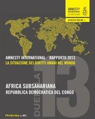 Congo, Repubblica Democratica.pdf - Rapporto annuale - Amnesty ...