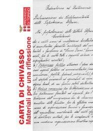 Carta di Chivasso Materiali per una riflessione - Provincia di Torino