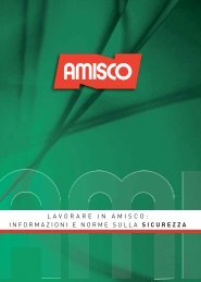 lavorare in amisco: informazioni e norme sulla sicurezza