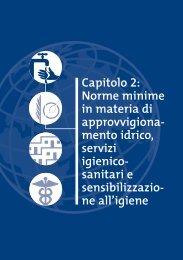 Norme minime in materia di app. idrico, servizi - Coordinamento ...