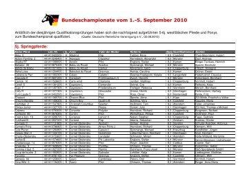 qualifizierten 5-6j. Westfalen 2010 - Westfälisches ...
