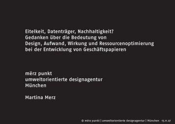 Vortrag downloaden (PDF) - merzpunkt