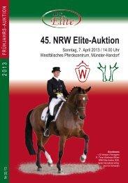 45. NRW Elite-Auktion - Westfälisches Pferdestammbuch eV