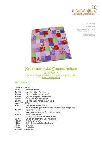 Kuscheldecke Sommerwiese - Westfalenstoffe