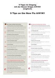 Tipps im Umgang mit der neuen Grippe H1N1