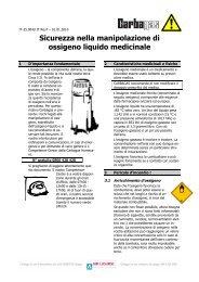 Sicurezza nella manipolazione di ossigeno liquido ... - Carbagas AG