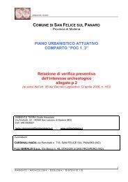 Relazione archeologica_def - Comune di San Felice sul Panaro