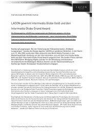 LACON gewinnt Intermedia Globe Gold und den Intermedia Globe ...