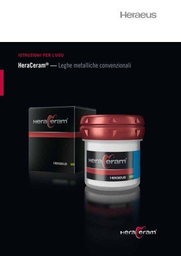 HeraCeram® — Leghe metalliche convenzionali - Heraeus