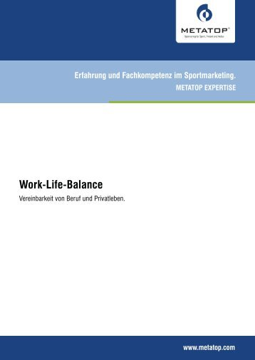 Work-Life-Balance - Metatop GmbH