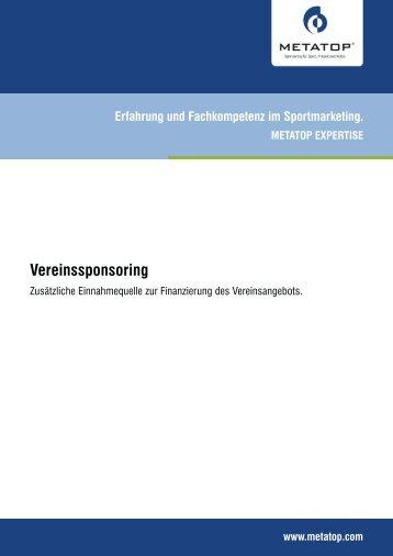 Vereinssponsoring - Metatop GmbH