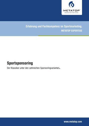 Sportsponsoring - Metatop GmbH
