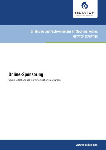 Online-Sponsoring - Metatop GmbH