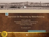 Improved Oil Recovery by Waterflooding - University of Wyoming