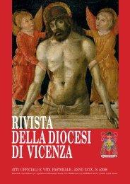 RIVISTA DELLA DIOCESI DI VICENZA - Webdiocesi