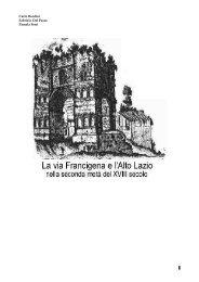 1. LA VIA CASSIA-FRANCIGENA E L'ALTO LAZIO XVIII SEC ...