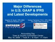 Major Differences between US GAAP and IFRS - Swenson Advisors ...