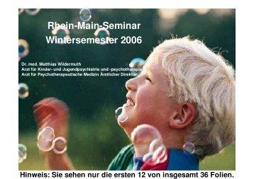Rhein-Main-Seminar Wintersemester 2006 - Meyerware