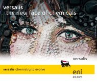 versalis the new face of chemicals - Eni