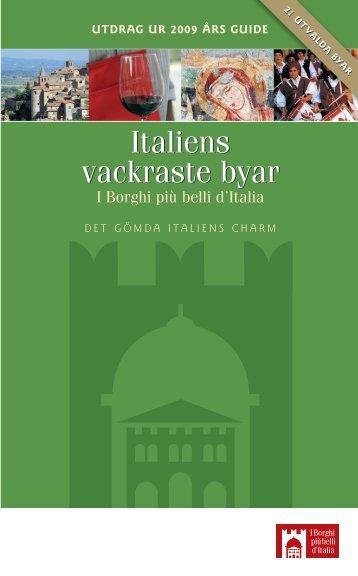 Italiens vackraste byar - Italienska Statens Turistbyrå
