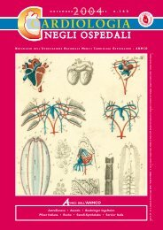 Cardiologia negli Ospedali n° 142 Novembre/Dicembre 2004 - Anmco