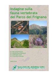 Indagine sulla fauna vertebrata del Parco del Frignano
