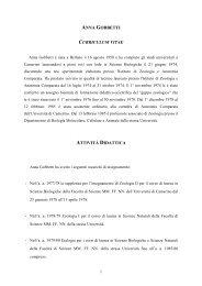 anna gobbetti curriculum vitae attività didattica - Università degli ...