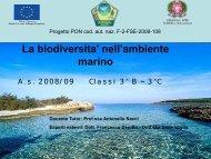 La biodiversita' nell'ambiente marino - ITIS