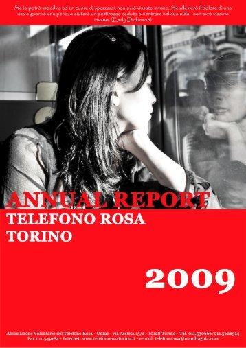 Relazione sulle accoglienze e rilevazione dati - Telefono Rosa
