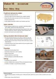 Viskon V6 3D-CAD/CAM Krov - Stěna - Stroj Prezentace - Stacon