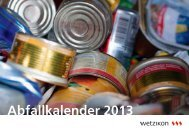 Abfallkalender 2013 (PDF) - in Wetzikon!