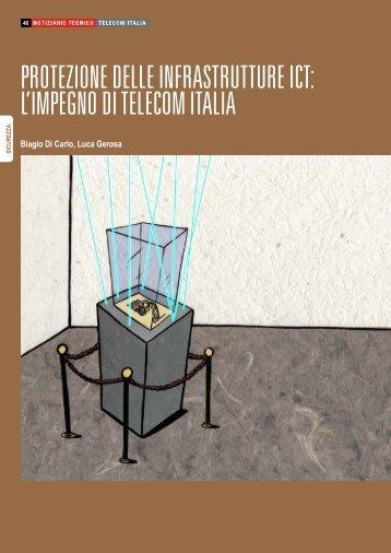 protezione delle infrastrutture ict: l'impegno di telecom italia