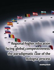 Regional higher education facing global competitiveness