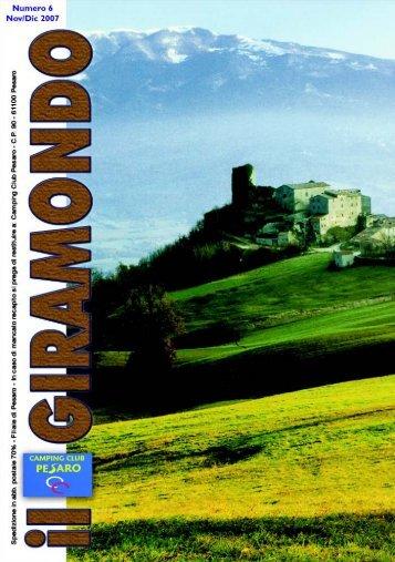 numero 6 di novembre - dicembre 2007 - Camping Club Pesaro