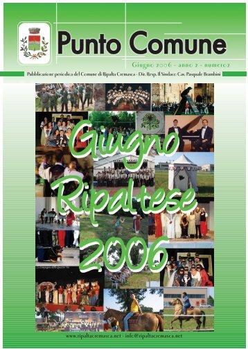 Giugno Ripaltese 2006 - Comune di Ripalta Cremasca