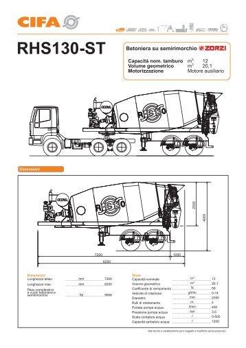 RHS130-ST Betoniera su semirimorchio