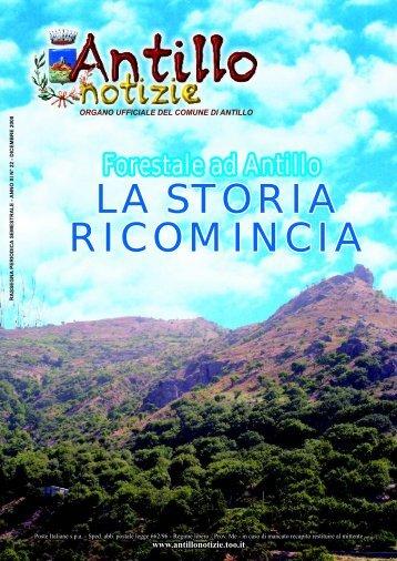 LA STORIA RICOMINCIA LA STORIA ... - Comune di Antillo
