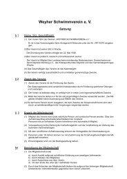 Satzung 2006 neu - Weyher Schwimmverein e.V.