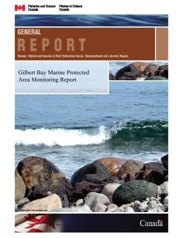 Gilbert Bay Marine Protected Area Monitoring Report - Pêches et ...