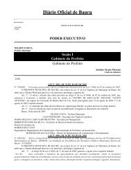 Diário Oficial de Bauru - Prefeitura Municipal de Bauru