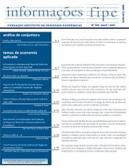 análise de conjuntura temas de economia aplicada - Fipe