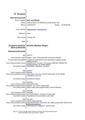 CV Europass V Europass - Luca Rizzieri