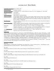 curriculum vitae di Marco Ruzzier - Ordine degli Ingegneri della ...