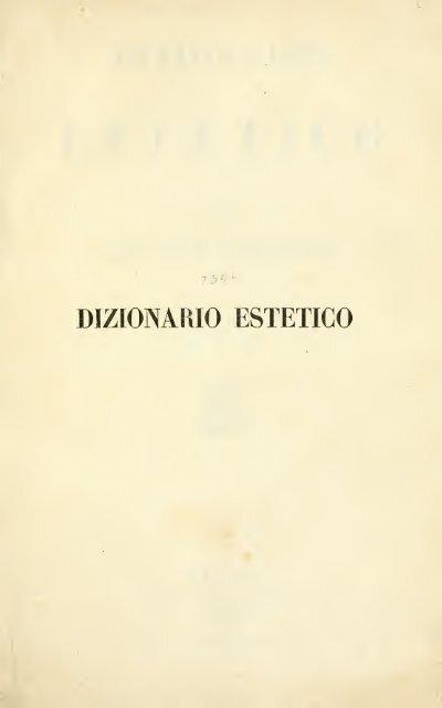 Dizionario estetico