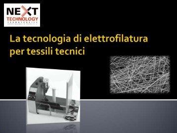 La tecnologia di elettrofilatura per tessili tecnici