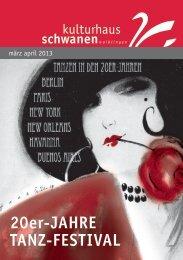20er-Jahre Tanz-FesTival - Kulturhaus Schwanen